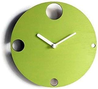 28cm Piccolo orologio da muro silenzioso per sala colorato come verde lime Particolari orologi a parete analogici con mecc...