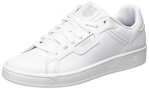 K-Swiss Damen CLEAN Court II CMF Sneaker, Weiß (White/White/Gulgray 141), 41 EU