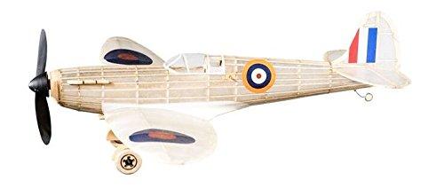 Spitfire Kit Completo Aviones Vintage De Madera De Balsa De Goma Con Motor Modelo De Época ¡Realmente Vuela!