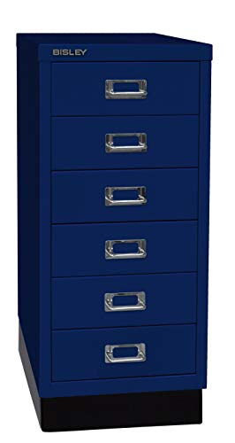 BISLEY MultiDrawer, 29er serie met sokkel, DIN A4, 6 laden 38 x 27.9 x 67 cm 639 Oxfordblauw