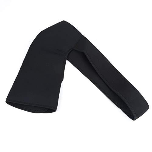 FOLWME Adjustable Breathable Gym Sports Care Single Shoulder Support Back Brace Guard Strap Wrap Belt Band Pads Black Bandage Men&Women