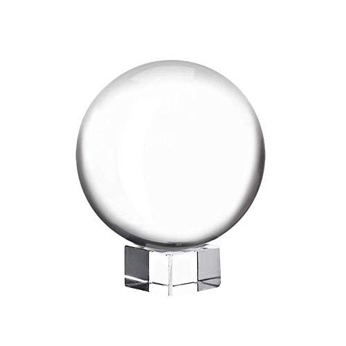 arbitra Sfera di Cristallo con Fotografia K9, LenBa PRO Sfera Originale con Lente Trasparente da 80 Mm, LensBall Supporto in Cristallo, Accessorio per Fotografia
