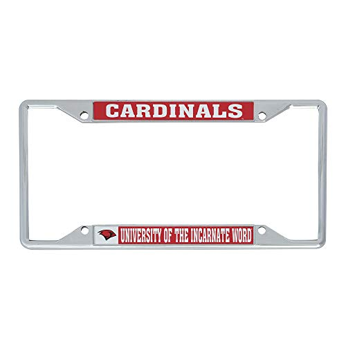 Desert Cactus University of The Incarnate Word UIW Cardinals NCAA Metal License Plate Frame for Front Back of Car Officially Licensed (Mascot)