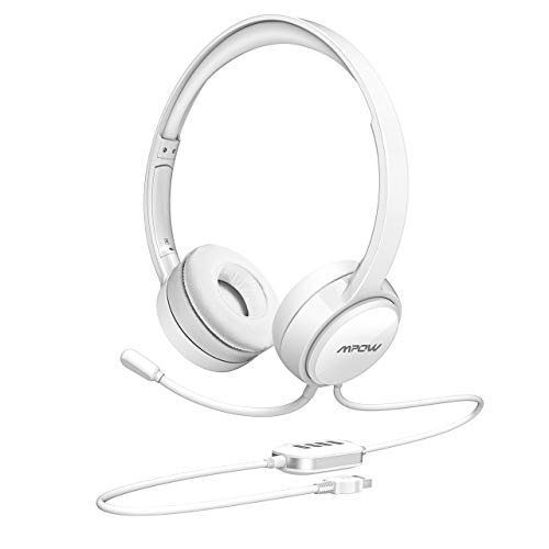 Softphone Tablets PC Wired Headset with Clear Conversation for Conference Halls 3.5mm//USB Headset with Noise Cancelling Mic Mpow Computer Headset Ultralight Laptop 40mm Stereo-Driver