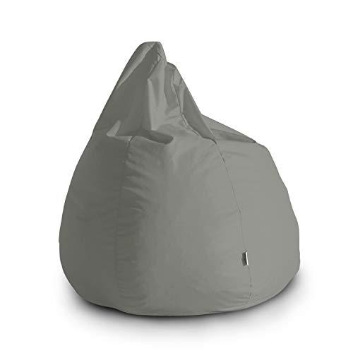Avalon Pouf Poltrona Sacco Grande Bag L Jive 80x80x100cm Made in Italy in Tessuto antistrappo Imbottito Colore Grigio