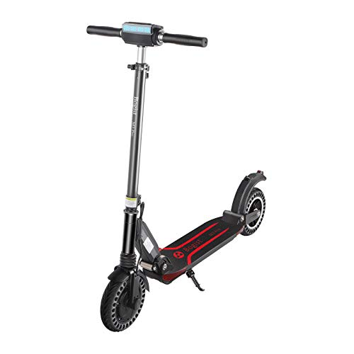 SRQLC Scooter eléctrico, Scooter eléctrico Plegable de 350 W, neumáticos sólidos de 8 Pulgadas, Pantalla LED, Scooter eléctrico Ultraligero Adecuado para Adolescentes