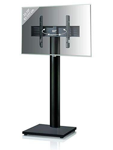 VCM 1 Support TV, Stand Onu Black Edition, Aluminium, Laqué Noir, 174x68x60 cm