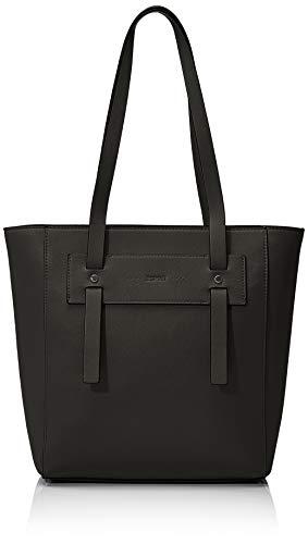 Esprit Accessoires Damen Terry Shopper Schultertasche, Schwarz (Black), 13x30x26,5 cm
