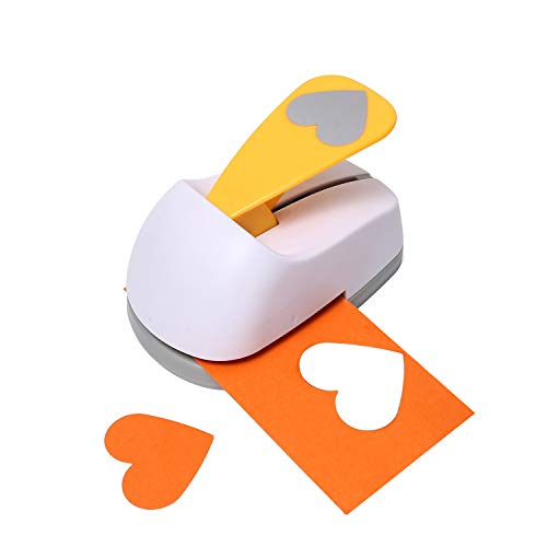 Craft Lever Punch 2 inch Heart Punch DIY Handmade Craft PunchPaper Punch(2 inch White Heart)