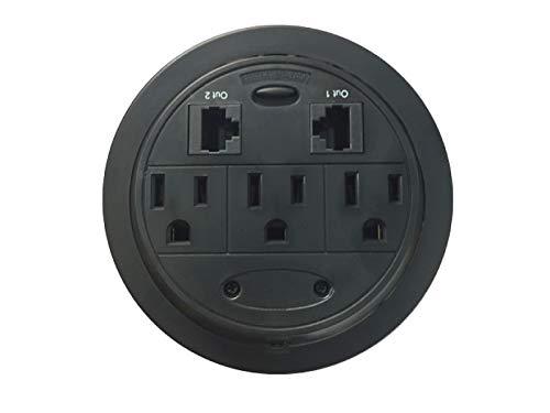 Kable Kontrol Home 'n' Office PowerTap Grommet Desktop Power Data Center (3 Power / 2 Ethernet)