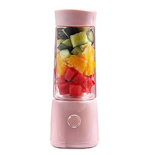 LKOER Exprimidor de masticación, Extractor de Jugo de Prensa en frío, exprimidor, exprimidor portátil de Carga de hogar Mini alumno eléctrico Jugo Cup jinyang (Color : Pink)