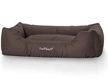 Knuffelwuff panier chien, lit pour chien, coussin, corbeille pour chien Finlay, imperméable, marron, grande taille XXXL 155 x 105cm
