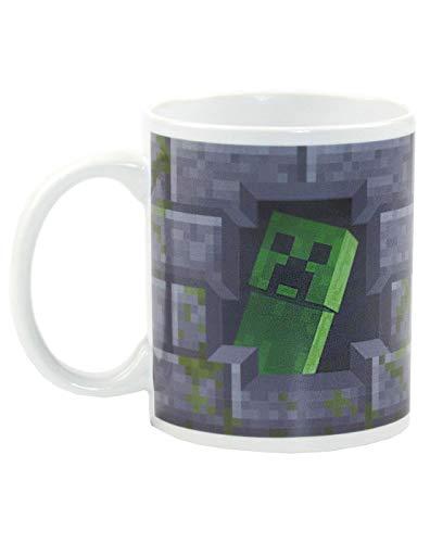 Minecraft Creeper Inside 11oz / 312ml Taza de cerámica gris que cambia...