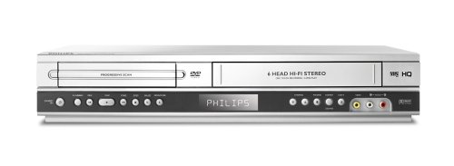 Philips DVP 3055 V DVD-Player und Videorekorder Kombination silber