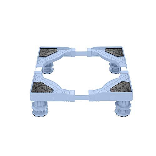 YiHYSj Base de la Lavadora Multifuncional 4 Pies portátil Secadora Soporte lavavajillas Heightening Estante Ajustable Largo 50-60cm Ancho 45-58cm Nevera y Aire Acondicionado Base (4Legs,9-13cm)