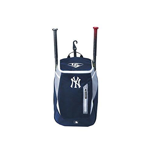 Wilson Louisville Slugger Baseball Rucksack, New York Yankees, MBL GENUINE (SERIES 3) STICK PACK, Dunkelblau/Grau, WTL9302TCNYY