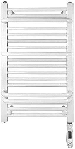 WNN-URG Toallero eléctrico y Sencillo de Toalla eléctrica, radiador Calentador de Toalla calentada Blanca - termostato de 450 * 750 mm +, para la mayoría de los baños o guarros URG