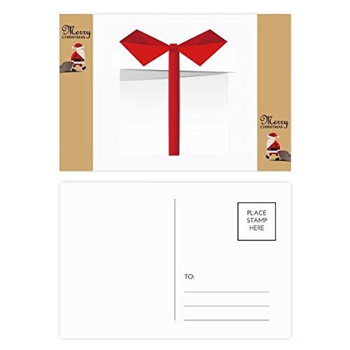 20 tarjetas de agradecimiento con texto en inglés «Christmas Gift Origami Santa Claus Gift Postcard Thank Mail»