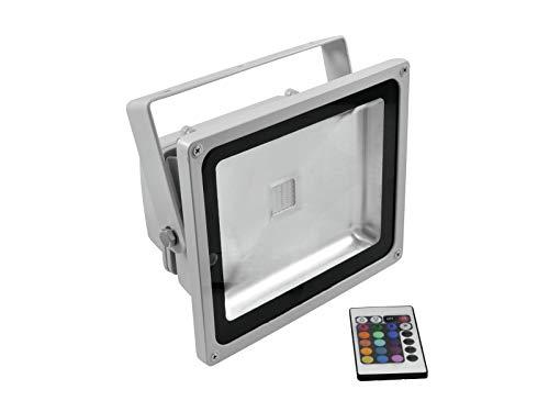 EUROLITE LED IP FL-30 COB RGB 120° FB | Outdoor-Scheinwerfer (IP65) mit 30-W-COB-LED (RGB) & IR-Fernbedienung