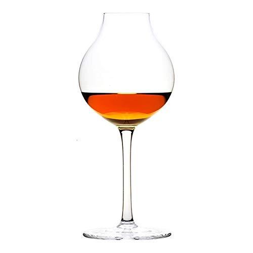 Iinger Broma de Camarero for catador del Vino de Cristal Octomore XO Brandy Licor Whisky Copa cáliz de súper nicho Profesional Blender (Capacity : 245ml, Color : 1 Pcs Glass)