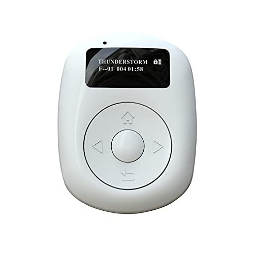 Mini radio numérique DAB avec écran OLED de 2,5 cm - Radio FM rechargeable - Radio numérique portable avec Bluetooth et fond blanc - Mode musique pour le bureau et la maison