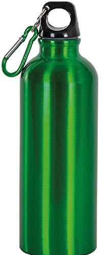 Cantimplora de aluminio de 750 ml con mosquetón. Material aluminio. Medidas del artículo (cm) Ø 7,3 x 25,5 cm. Para informar al MF Sport 055-264490 (verde)