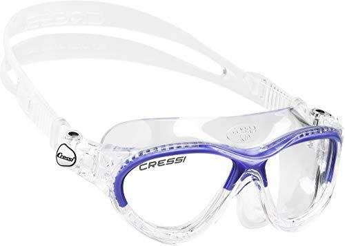 Cressi Cobra Kid Gafas de Piscina para Niños, Color Transparente / Azul, Talla Única