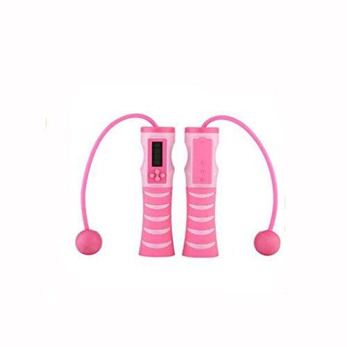 AXC---- Saltar inalámbrico Digital Cordless Jump Rope Saltar inalámbrico Portátil Altavoz Bluetooth Deportes Tarjeta de Audio Bluetooth Altavoz Podómetro Fitness