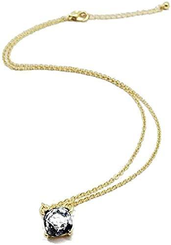 Yiffshunl Collar Collar con Colgante Cuadrado pequeño Nueva York Collares de ópalo Brillante Joyas para Mujeres Collar Colgante Regalo para Mujeres Hombres Niñas Niños