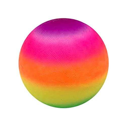 VOSAREA Palla Gonfiabile Arcobaleno di Colore Addensare Interessante Divertente Pallone da Spiaggia Giocattolo PVC Palla Giocattoli per Bambini Bambini Bambini