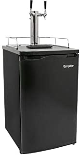 EdgeStar KC2000TWIN Full Size Dual Tap Kegerator & Draft Beer Dispenser - Black