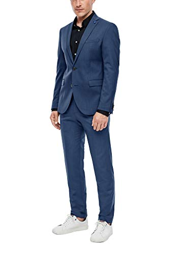 s.Oliver BLACK LABEL Herren Slim Fit: Anzug mit Sakko und Hose Blue 50