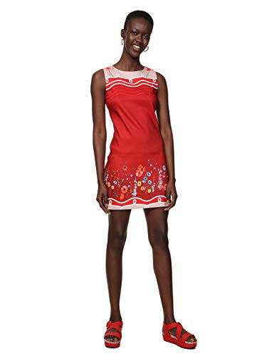 Desigual Damen Dress Sleeveless Patrice Woman RED Kleid, Rot (Menorca 3073), 42