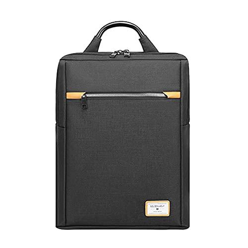 Golden Wolf Hans - Mochila unisex para ordenador portátil, impermeable, color negro