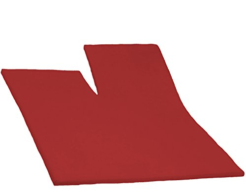 Dormisette Split Topper Spannbettlaken Boxspring Bett 180-200 x 200-220 cm 2104 Rot