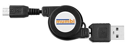 Mumbi oprolbare kabel USB 2.0 type A op Micro-B-stekker