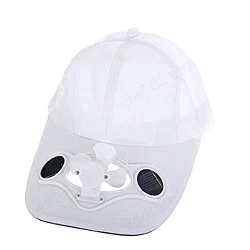 SALAKA 1PC Sombrero Deportivo Blanco con Gorras de Ventilador Solar para Golf y béisbol