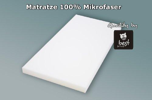 Best For Kids Kinderbettmatratze Reisebettmatratze Babymatratze Schaumstoff Matratze 70x140 cm Mikrofaser