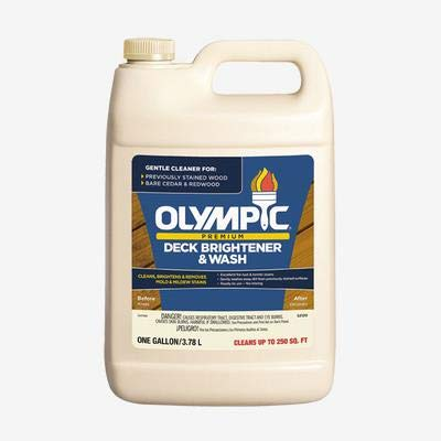 Sundeck Deck Cleaner and Brightener. Olympic 1 Gallon for Coated and uncoated Wood or Composite Deck.