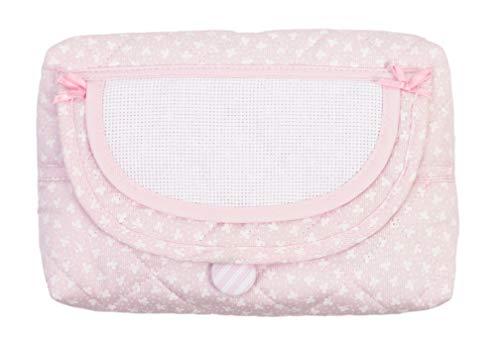 Bolsa de malla para toallitas húmedas para niños, dispensador recargable de toallitas húmedas, estuche para toallitas rellenables Rosa