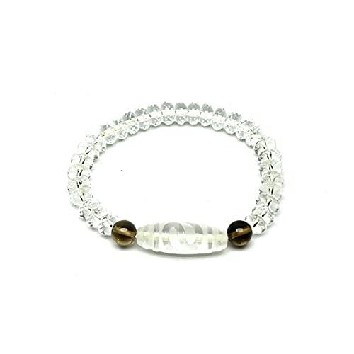 WJCRYPD Pulseras para Mujer Cuentas de Cristal Sección Blanca Abacus Beads Pulsera Elástica Mujeres S Fina Joyería Amuleto Beads Sweet Qf Shop