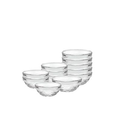 Duralex 12 Piece Bowl Set of Six, Clear