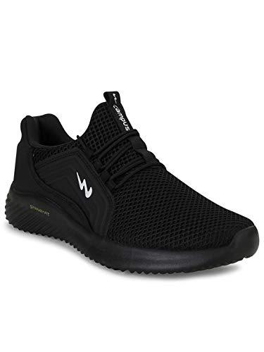 Campus Men's Tyson Full Blk Running Shoes-9 UK (43 EU) (CG-120)