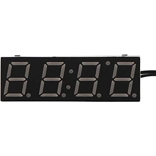 TQBHD Reloj de LED de automóvil, Reloj eléctrico Temporizador Digital Temperatura Reloj con Verde/Azul/Rojo Luz Accesorios Decorativos (Color : Red)