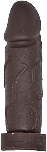 Capa Peniana Extensora, Negra, Cyberskin, 20 X 6 cm, Sexy Fantasy