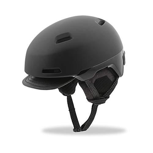 Giro Shackleton Adult Urban Cycling Helmet - Large (59-63 cm), Matte/Gloss Black (2019)