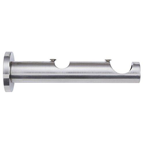 Barre de rideau – Support double cylindre 30 – 20 acier inox