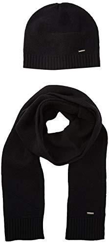 HUGO Herren Zanto Set Schal, Schwarz (Black 001), One Size (Herstellergröße: ONESI)