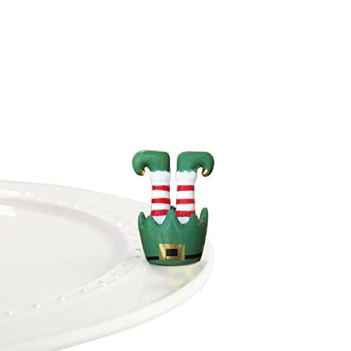 Nora Fleming Hand-Painted Mini: Jingle Toes (Elf Feet) A143 (Styles May Vary)