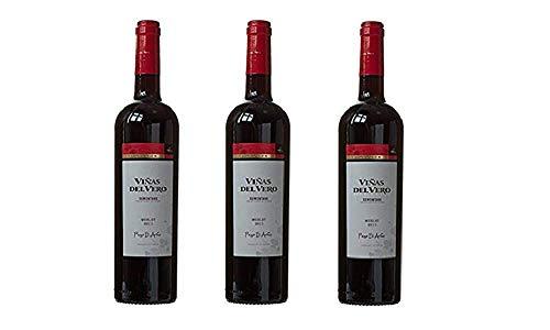 Viñas Del Vero Merlot Colección - Vino D.O. Somontano - 3 Botellas de 750 ml - Total : 2250 ml